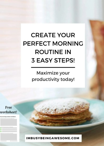 How to create your perfect morning routine