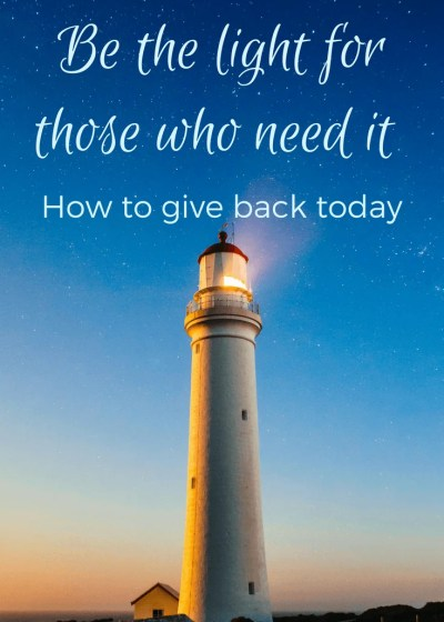 How to Give Back