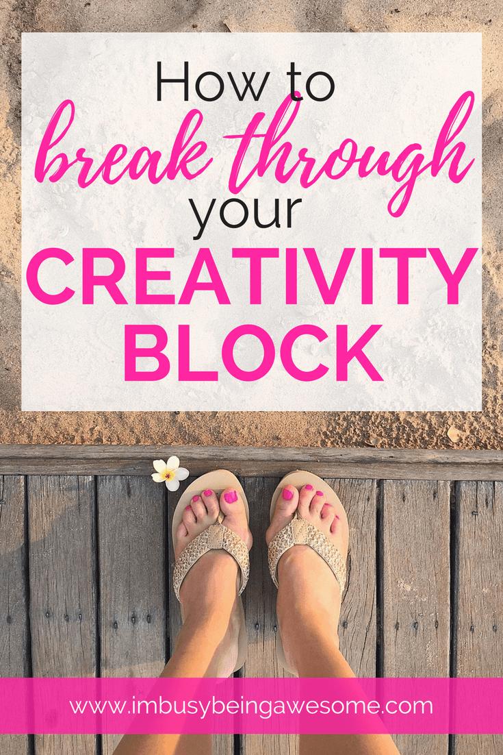 Break Through Your Creativity Block With These 10 Strategies creativity, artist, blogger, writer, create, writer's block, inspiration, motivation, success, entrepreneur, #creativity #artist #blogger #writer #create #writersblock #inspiration #motivation #success #entrepreneur #creativityblock