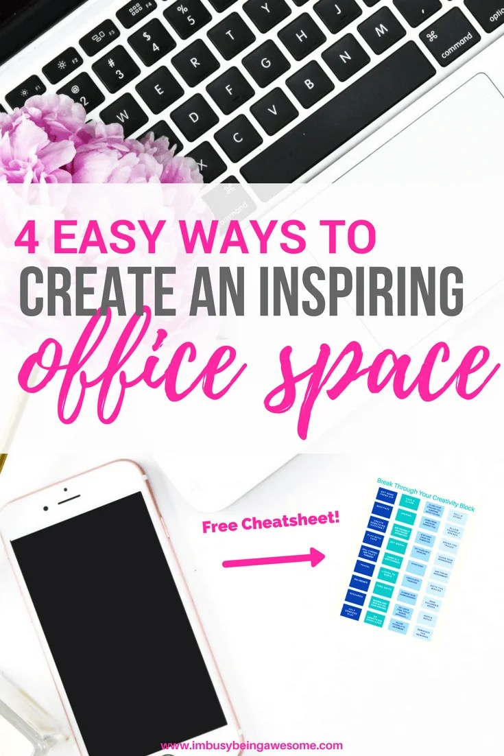 4 Easy Tips For A Creative Office Space Creativity, creative, inspire, inspiration, office, home office, work space, business, artist, entrepreneur, blogger, work from home, home business #Creativity #creative #inspire #inspiration #office #homeoffice #workspace #business #artist #entrepreneur #blogger #workfromhome #homebusiness