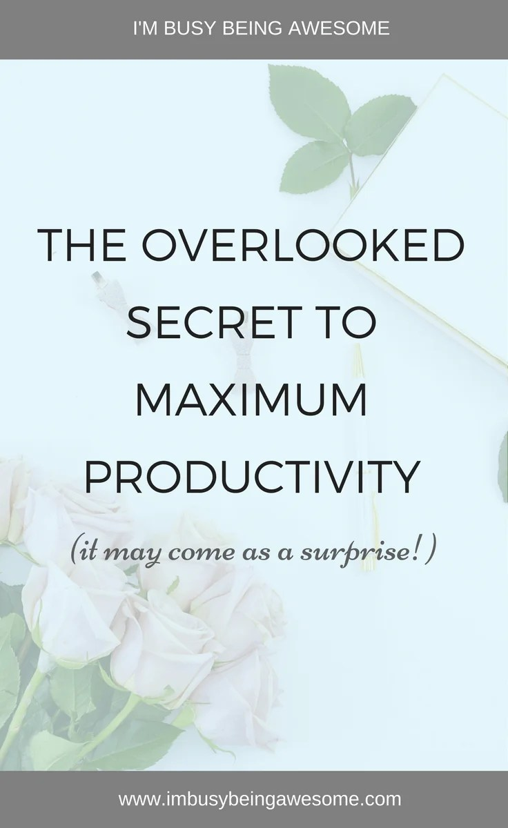 The overlooked secret to increase productivity. Productive, productivity tips, motivation, motivation Monday, strategies, tips and tricks, blogging, entrepreneur, happiness, balance, self care, self love, relaxation, success #productive, #productivitytips #motivation, #motivationmonday #strategies #tipsandtricks #blogging #happiness #balance #selfcare #selflove #relaxation #success