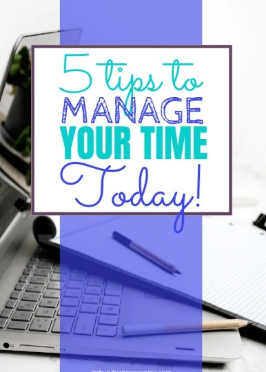 Top 5 Time Management Tips to Conquer Your Day Are you looking for simple time management strategies? Are you busy working woman, college student, or mompreneur? Do need tips to stay focused or do you need time management tips for kids? Check out these tips for a simple time management schedule whether you're at work or at home. #timemanagement #entrepreneur #workingwoman #productivity