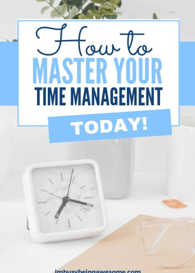 Need strategies to manage your time? Here are 5 simple tips for moms, teens, kids, students, entrepreneurs, office workers, and girl bosses. Learn how to get things done whether you're at home, at college, or at work. Use these tools and activities to boost your productivity and start completing your to-do list today! #timemanagement #girlboss #SAHM #productivity