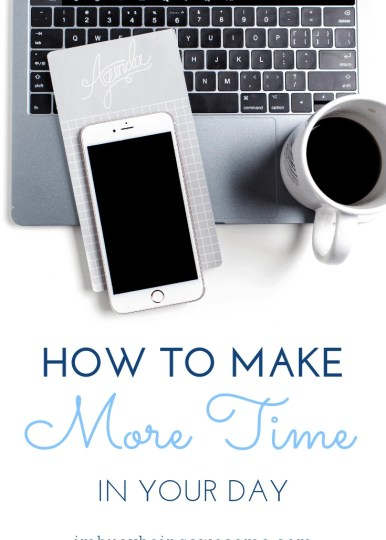 Do you wish you had more time in your day? Do you find you need more time to complete your todo list? Are you overwhelmed and stressed from all of your tasks? Do you need some serious help with time management? Then you need to give these simple steps a try. Grab your free workbook and rediscover your time today!