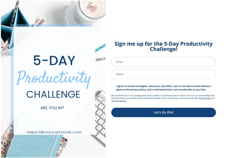 Free 5 Day Productivity Email Course