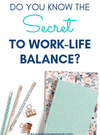 Do you know the secret to work life harmony