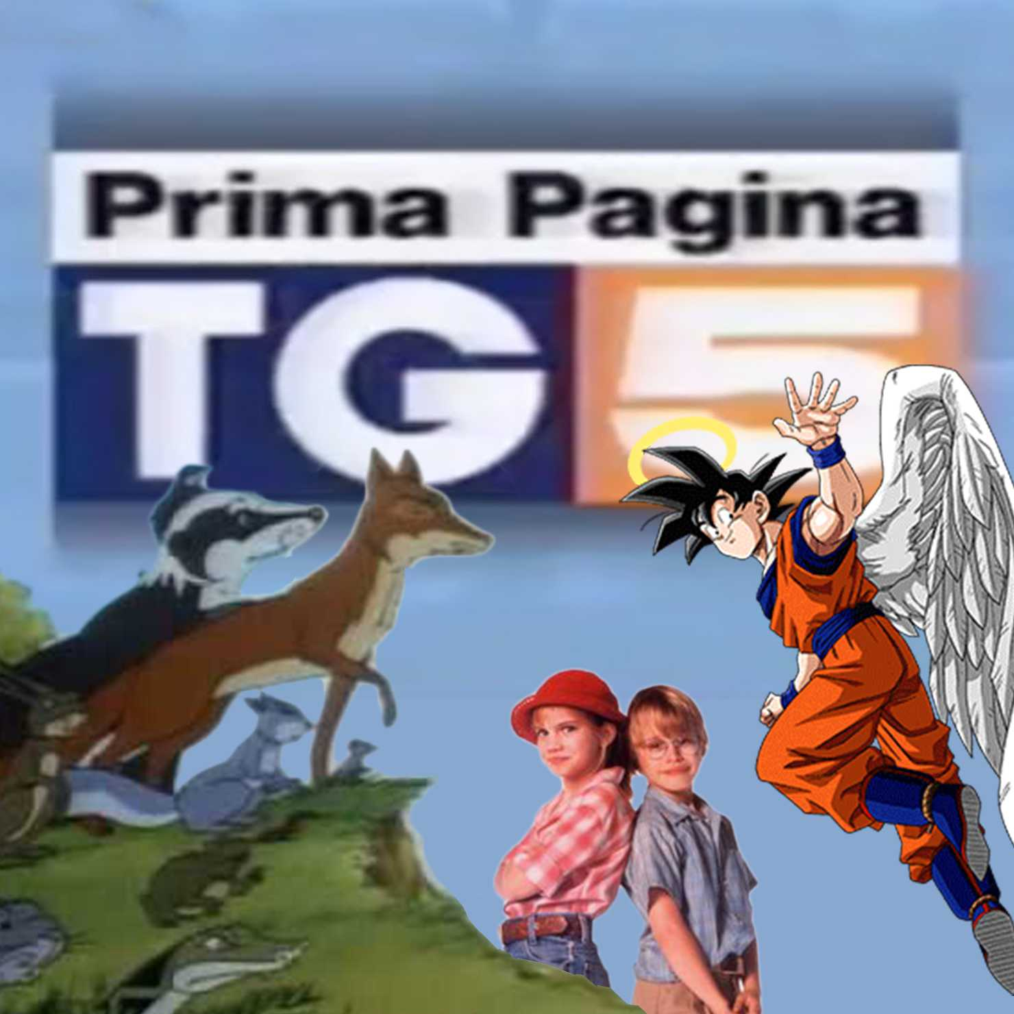 Collage TG5 Goku Bosco Piccolo My Girl