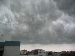 Monsoon clouds over Lucknow - India