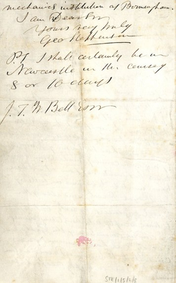 Stephenson's letter about becoming President p2