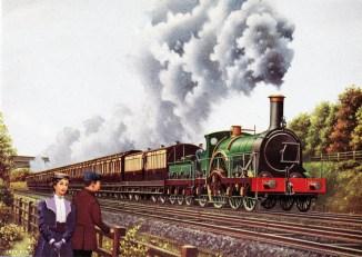 Bulkeley, broad gauge express on mixed gauge track