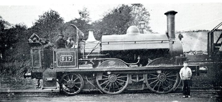 Saddle Tank No 517 by Armstrong's 0-4-2