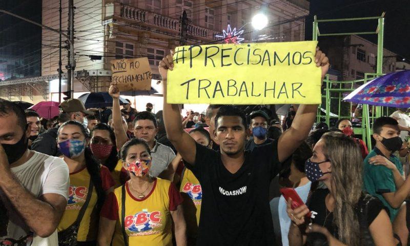 Novo decreto de fechamento do comércio gera protesto em Manaus | Imediato -  A informação na hora