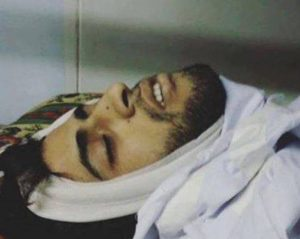 Ahmad Kharoubi after he was killed by Israeli forces (image from family)