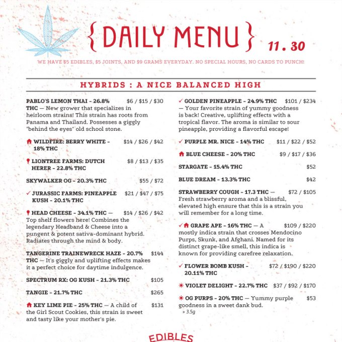 salon menu templates its your template