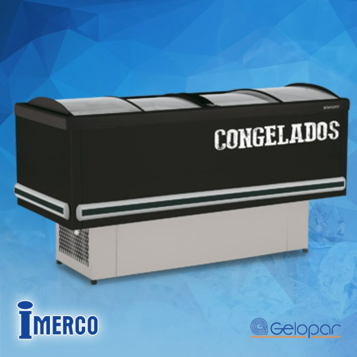 CONGELADOR 4 Puertas GESV-190 Negro