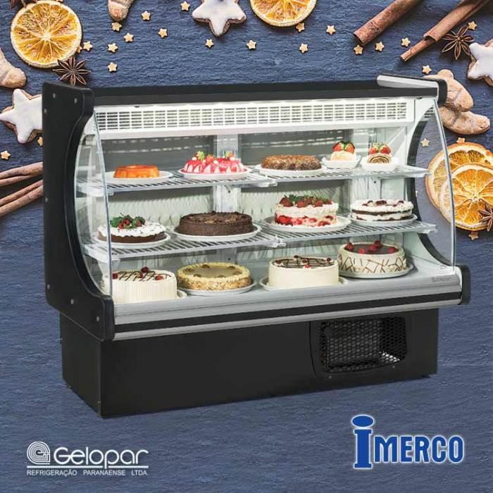 Exhibidor Refrigerado GEPV 140-PR GELOPAR