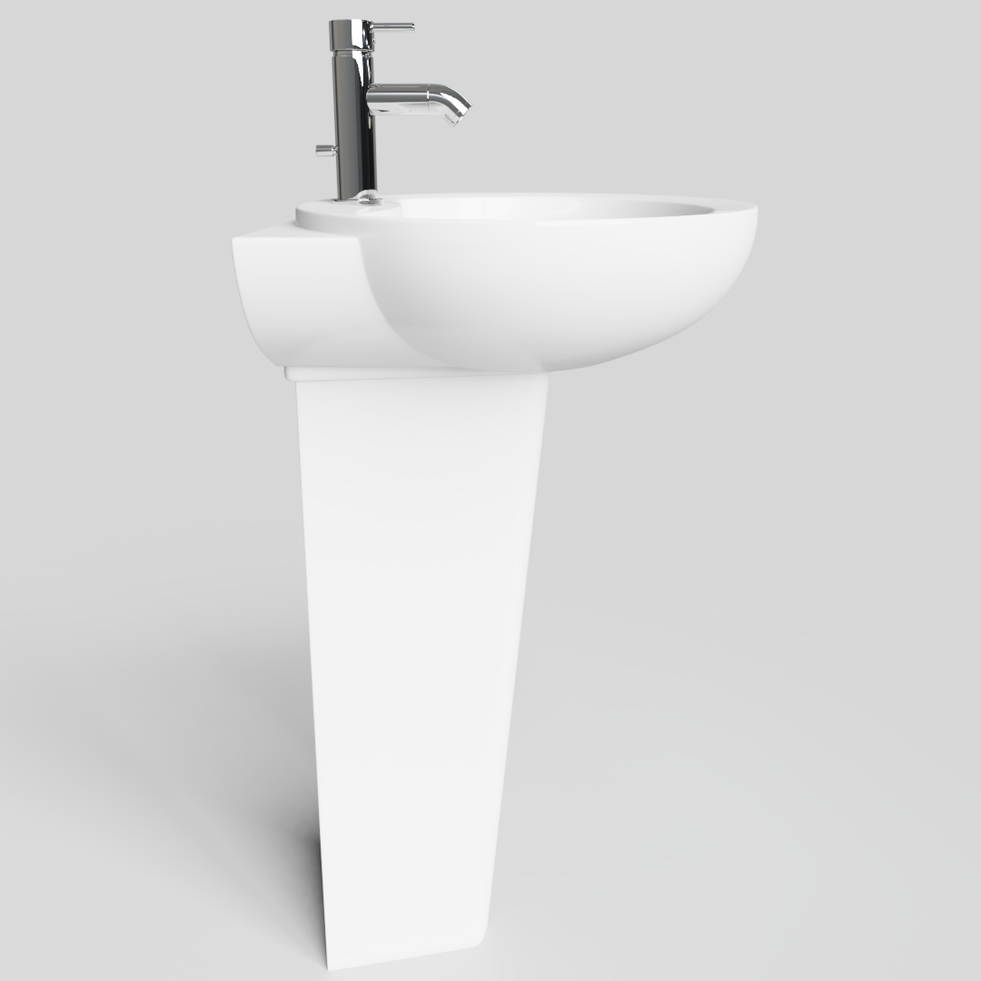 Tall Basin with Pedestal 2