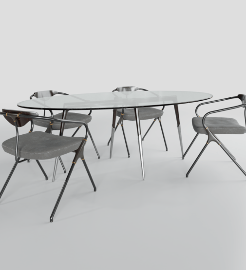 DT-0009 Industrial Modern Dining Table
