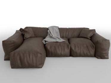 LS-0016 Indusgtrial brown sofa2