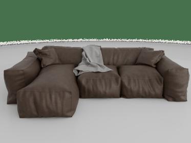 LS-0016 Indusgtrial brown sofa2