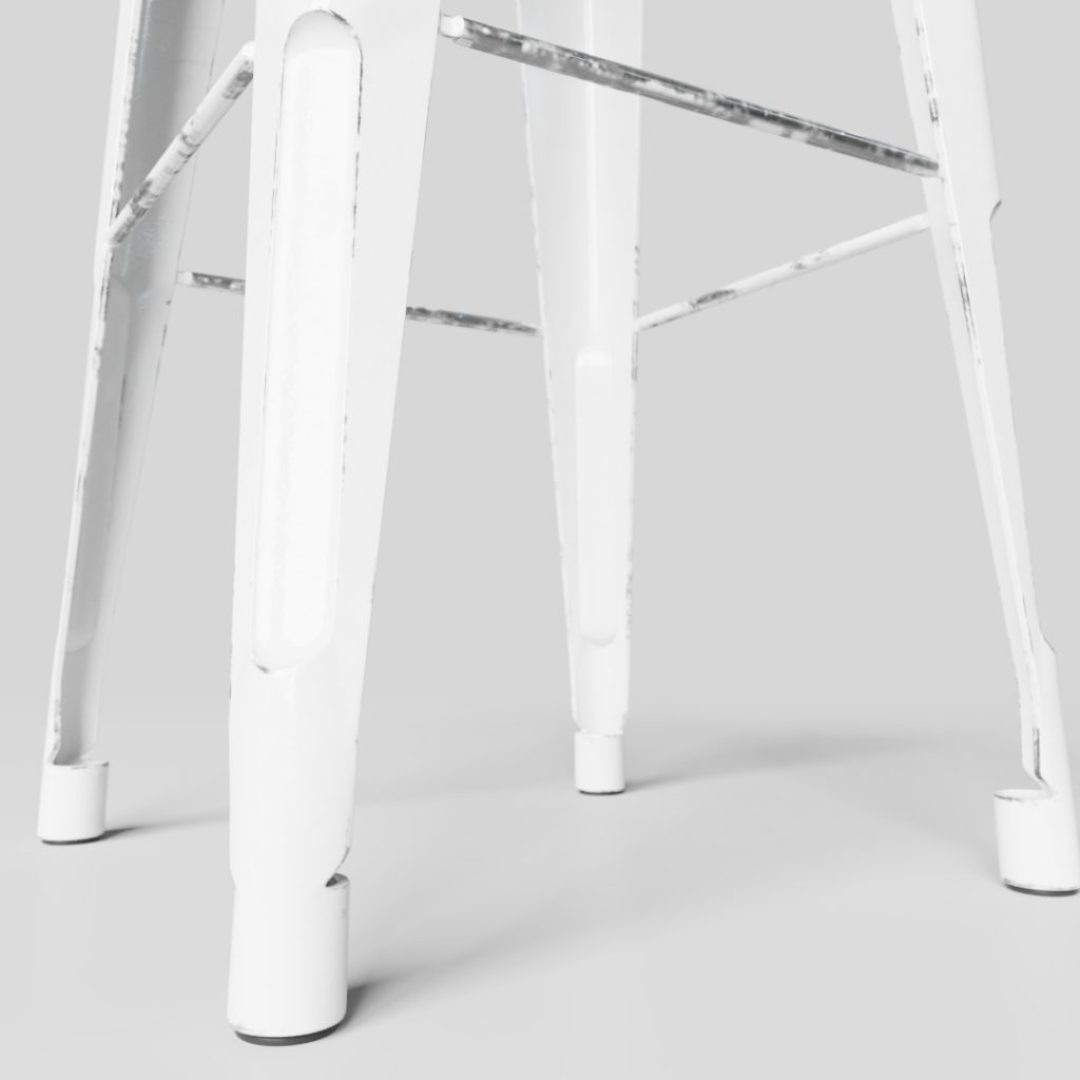 SS-0011 White Stool View 3