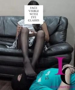stockings sniffing