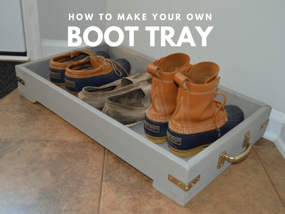 Do It Yourself Boot Tray