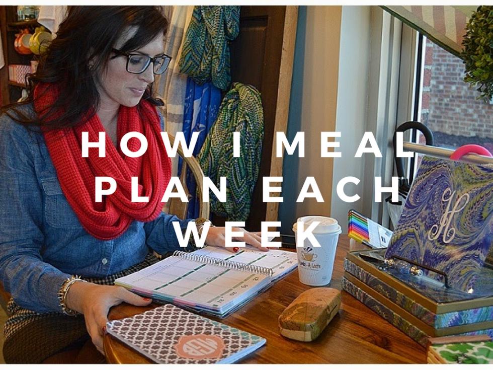 How I Meal Plan Each Week