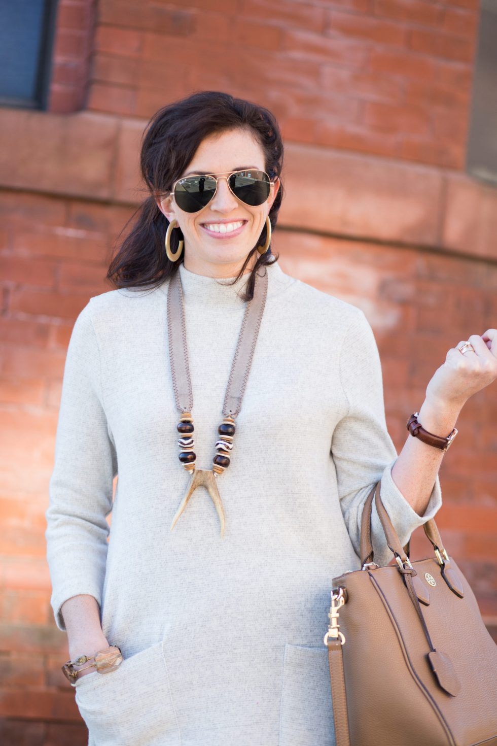 Neutral Dress + Over the Knee Boots - I'm Fixin' To - @mbg0112