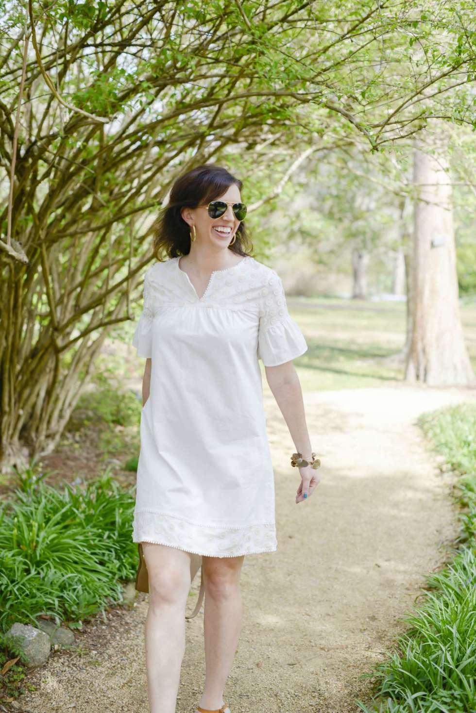 My Favorite Little White Dress for Spring - I'm Fixin' To - @mbg0112