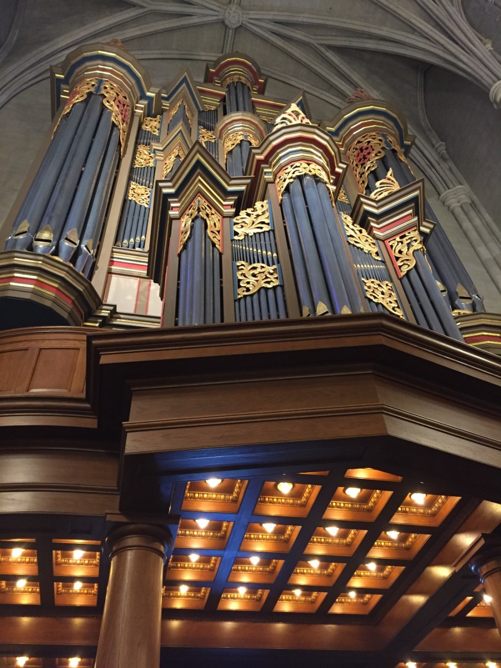 23 Awesome Things To Do in Durham - I'm Fixin' To - @imfixintoblog | Things to do in Durham by popular NC travel blog, I'm Fixin' To: image of the Duke Chapel pipe organ.