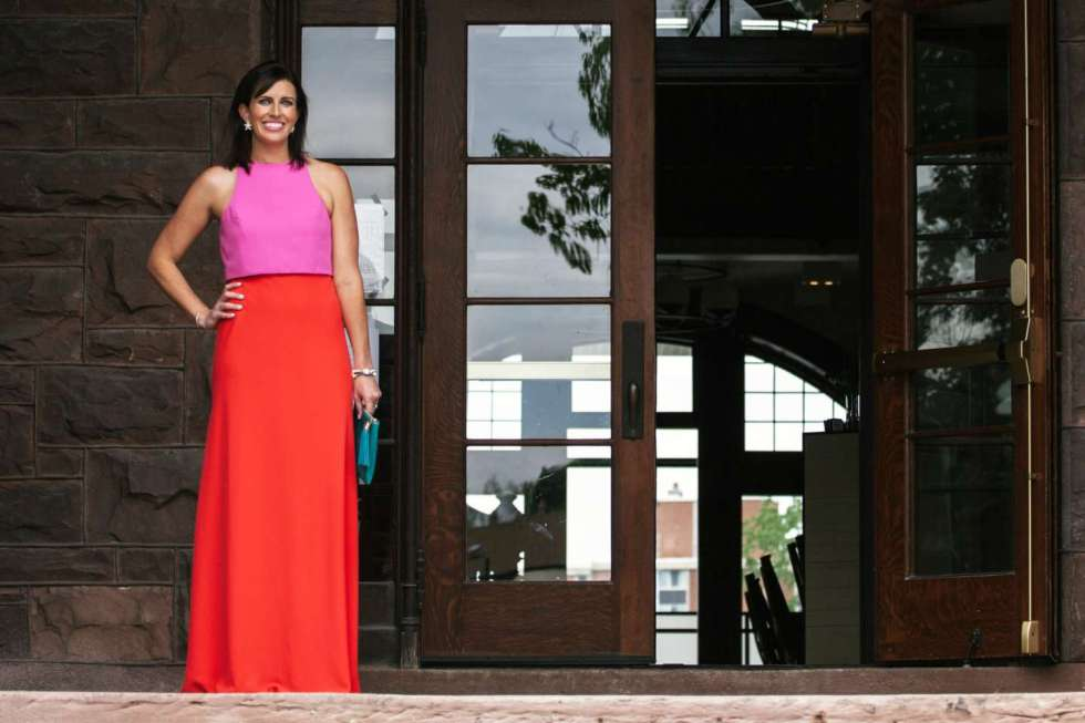 A Color Block Maxi Dress for Summer Weddings by North Carolina fashion blogger Meghan of I'm Fixin'To