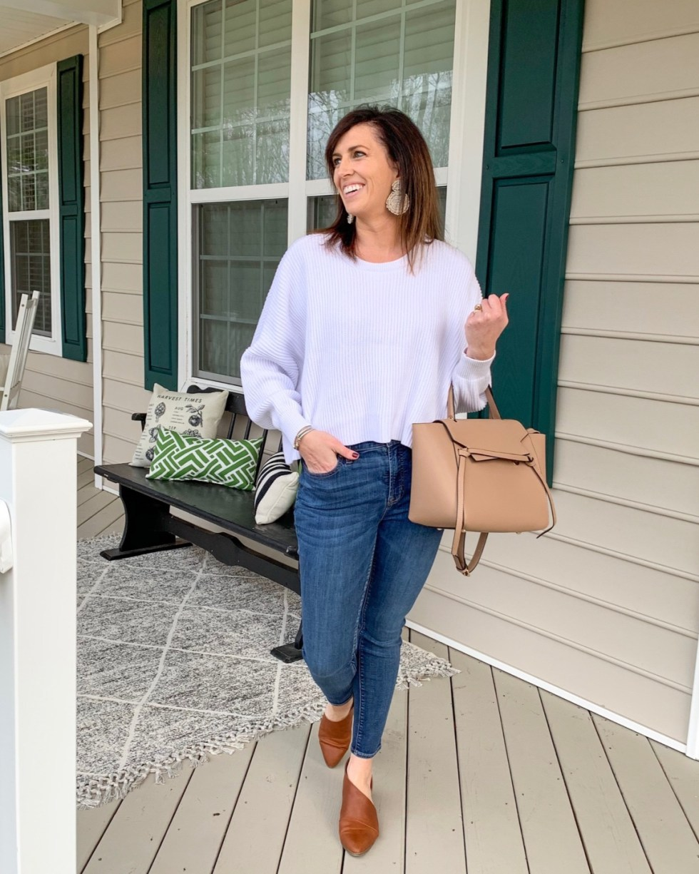 Building Your Spring Wardrobe Capsule - I'm Fixin' To - @mbg0112 | | Spring wardrobe capsule essentials featured by top US fashion blog, I'm Fixin' To: denim jeans, lilac crop sweater