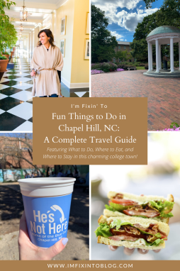 Fun Things to Do in Chapel Hill, NC - I'm Fixin' To - @imfixintoblog