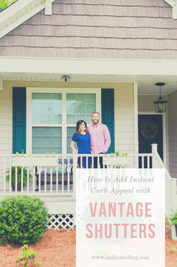 How to Add Instant Curb Appeal with Vantage Shutters - I'm Fixin' To - @mbg0112
