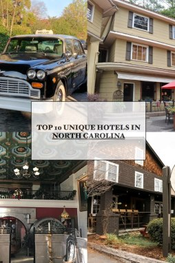 Top 10 Unique North Carolina Hotels featured by top North Carolina travel blog, I'm Fixin' To