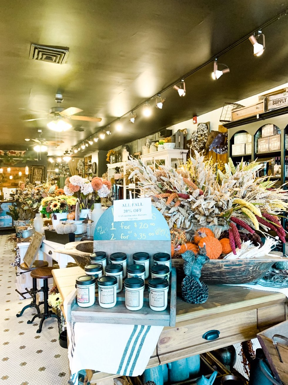 Eastern North Carolina Travel Guide: Top 10 Things to Do in Goldsboro NC by popular North Carolina blog, I'm Fixin' To: image of a boutique shop.