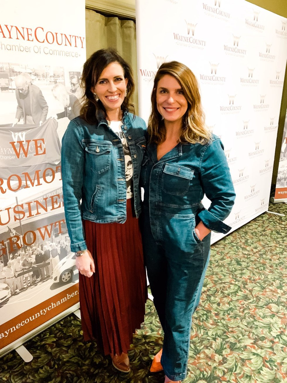 Eastern North Carolina Travel Guide: Top 10 Things to Do in Goldsboro NC by popular North Carolina blog, I'm Fixin' To: image of two women standing together and posing for a picture.