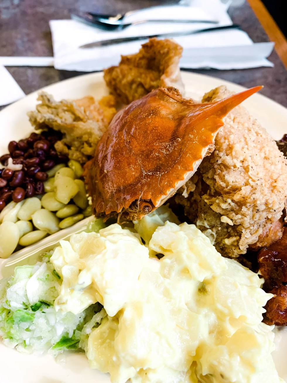 Eastern North Carolina Travel Guide: Top 10 Things to Do in Goldsboro NC by popular North Carolina blog, I'm Fixin' To: image of food at McCall's BBQ and Seafood.