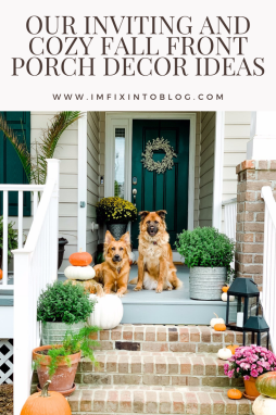 Our Inviting and Cozy Fall Front Porch Decor Ideas - I'm Fixin' To - @mbg0112
