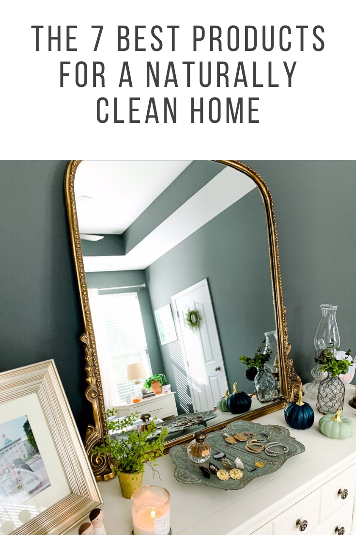 The 7 Best Products for a Clean Home - I'm Fixin' To - @mbg0112 | The 7 Best Natural Cleaning Products by popular North Carolina lifestyle blog, I'm Fixin' To: image of a clean bedroom vanity.