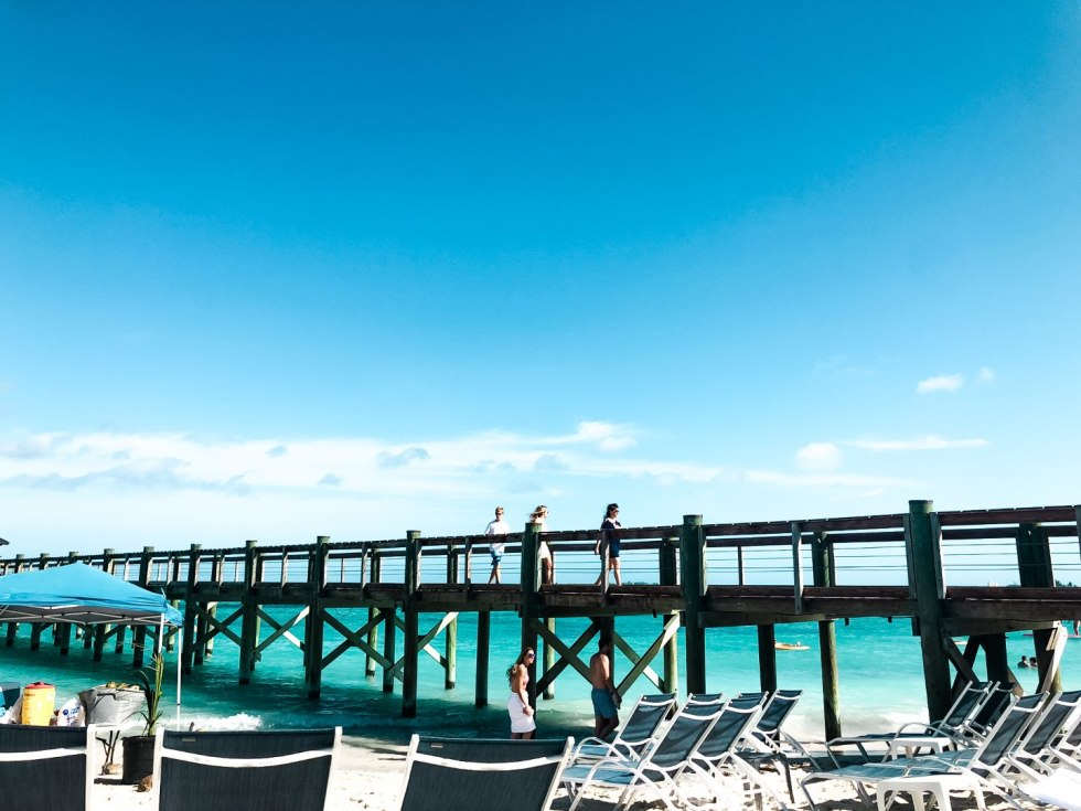 Warming Up in the Bahamas: the Best Things to Do at Baha Mar - I'm Fixin' To - @mbg0112 | Warming Up in the Bahamas: the Best Things to Do in Baha Mar by popular North Carolina travel blog, I'm Fixin' To: image of a pier.