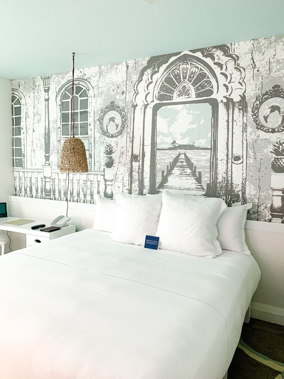 Warming Up in the Bahamas: the Best Things to Do at Baha Mar - I'm Fixin' To - @mbg0112 | Warming Up in the Bahamas: the Best Things to Do in Baha Mar by popular North Carolina travel blog, I'm Fixin' To: image of a bedroom at Baha Mar.