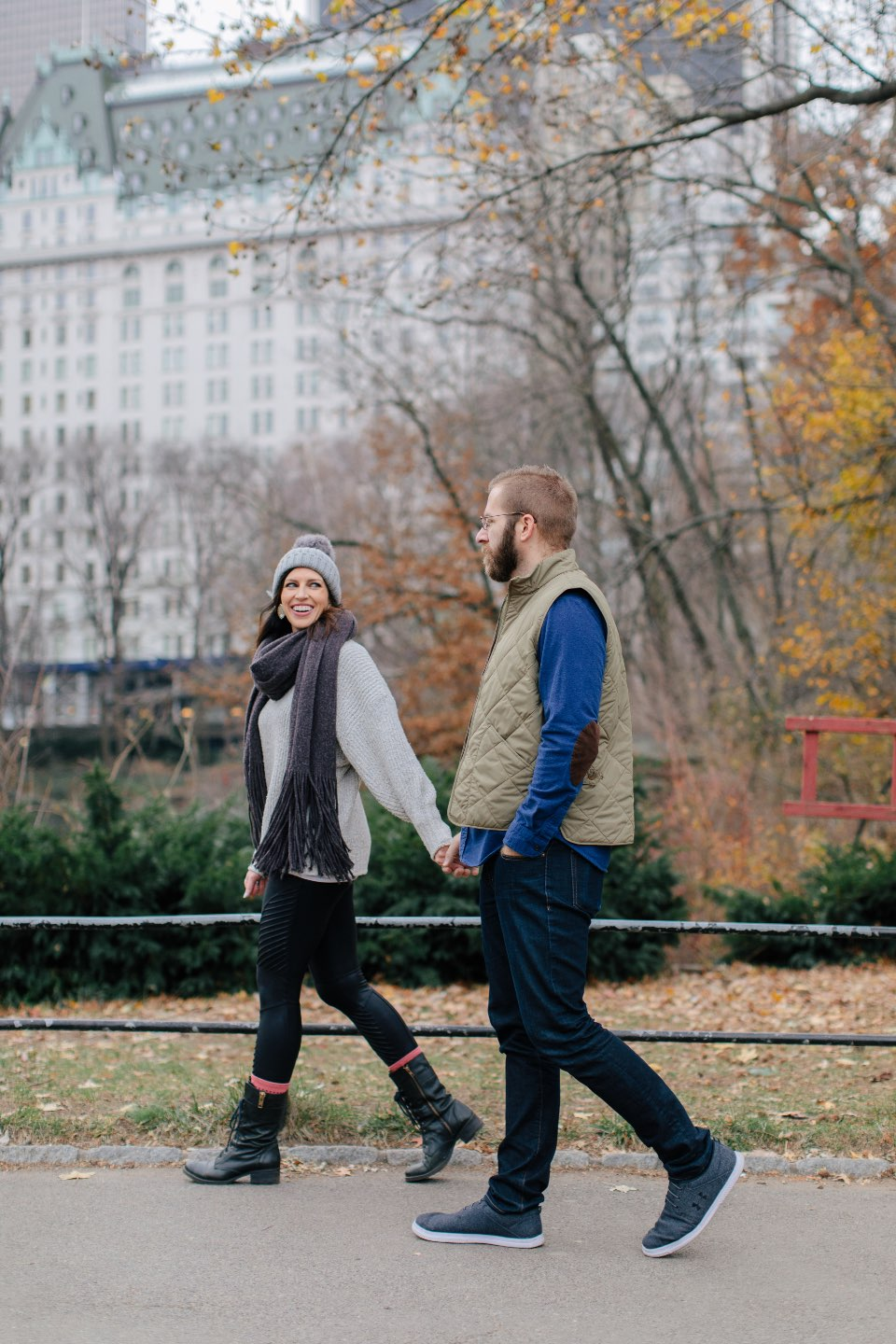 Birthday Reflections: 32 Powerful Lessons I Learned in the Past Year - I'm Fixin' To - @mbg0112 | Birthday Reflections: 32 Powerful Lessons I Learned in the Past Year by popular North Carolina life and style blog, I'm Fixin' To: image of a couple walking through Central Park.