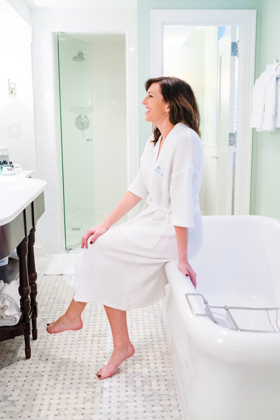 How to Set Healthy Boundaries with Friends: 8 Essential Tips - I'm Fixin' To - @mbg0112 | How to Set Healthy Boundaries with Friends: 8 Essential Tips by popular NC life and style blog, I'm Fixin' To: image of a woman sitting on the edge of a tub.