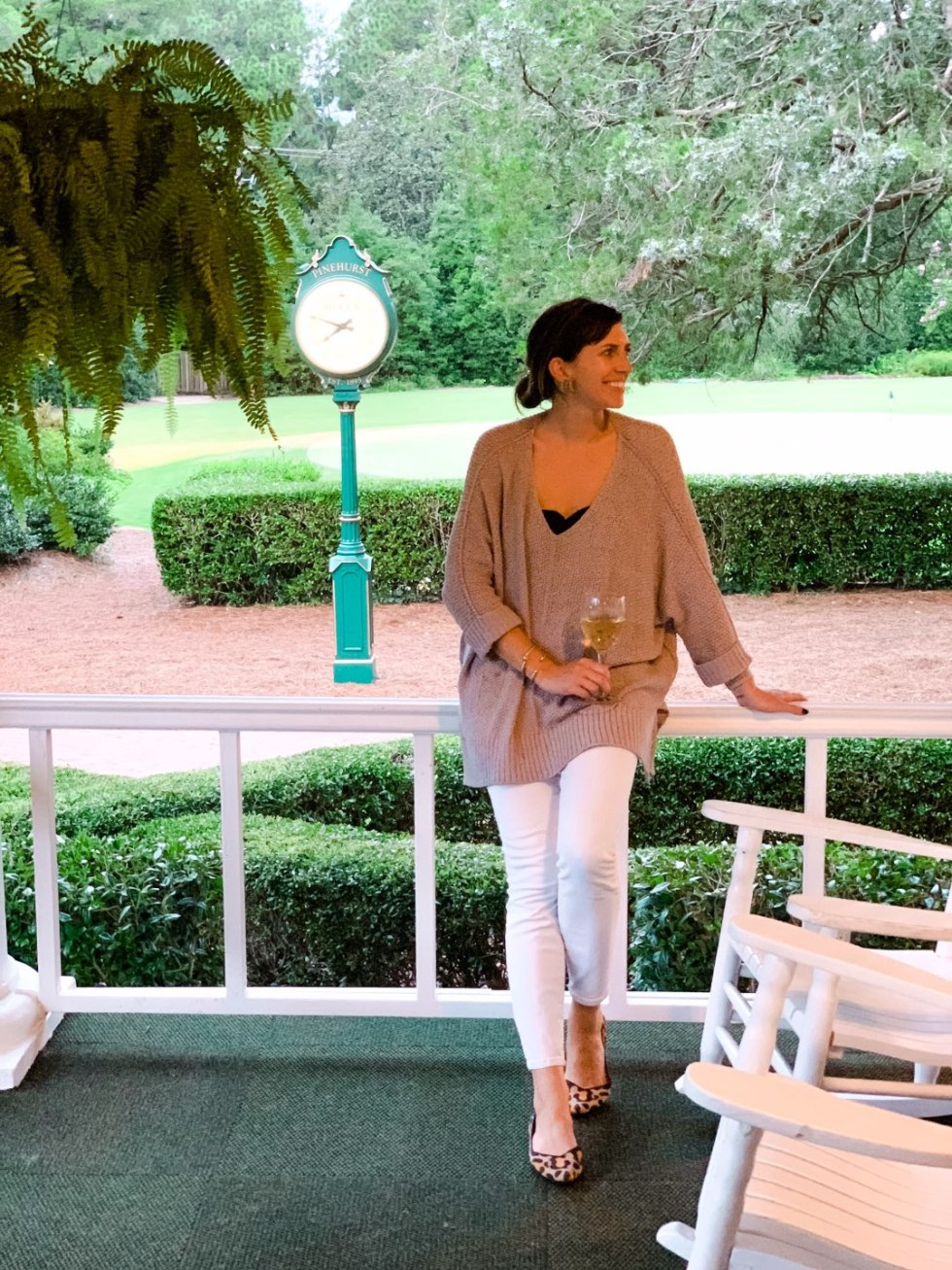 Top 10 Most Popular Blog Posts of 2019 - I'm Fixin' To - @mbg0112 | Top 10 Most Popular Blog Posts of 2019 by popular North Carolina life and style blog, I'm Fixin' To: image of a woman standing outside at Pinehurst, North Carolina.