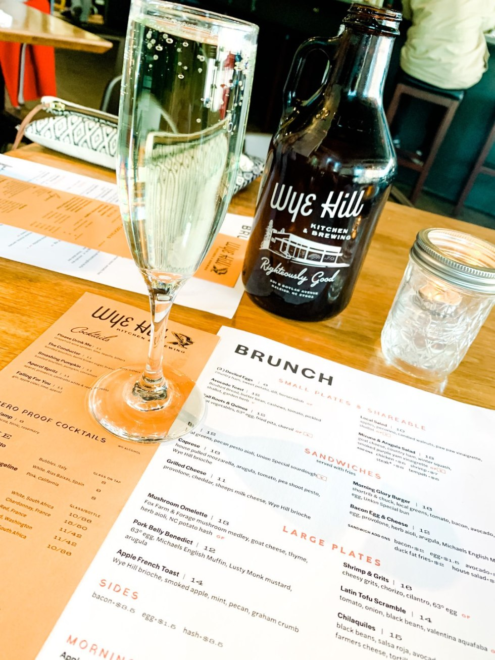 Where to Get Brunch in Raleigh: the 7 Best Spots - I'm Fixin' To - @mbg0112 | Brunch in Raleigh by popular Raleigh blog, I'm Fixin To: image of Whiskey Kitchen menu.