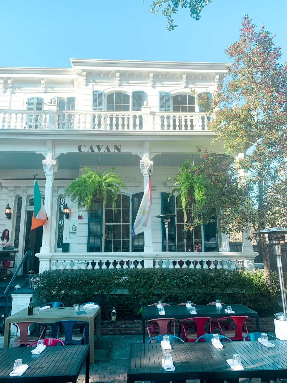 Girls Trip to New Orleans by popular US travel blog, I'm Fixin To: image of Cavan restaurant.
