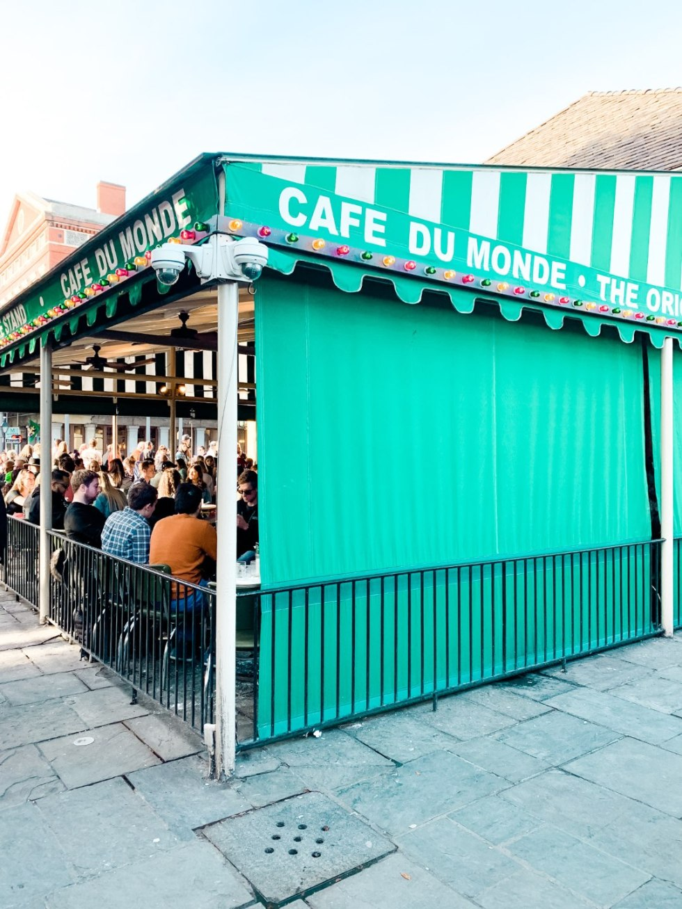 Girls Trip to New Orleans by popular US travel blog, I'm Fixin To: image of Cafe Du Monde.