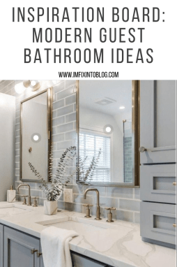 Inspiration Board: Modern Guest Bathroom Ideas - I'm Fixin' To - @mbg0112
